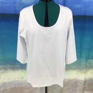 Yest Yara Basic Cotton Jersey 3/4 Sleeve Tee, 16